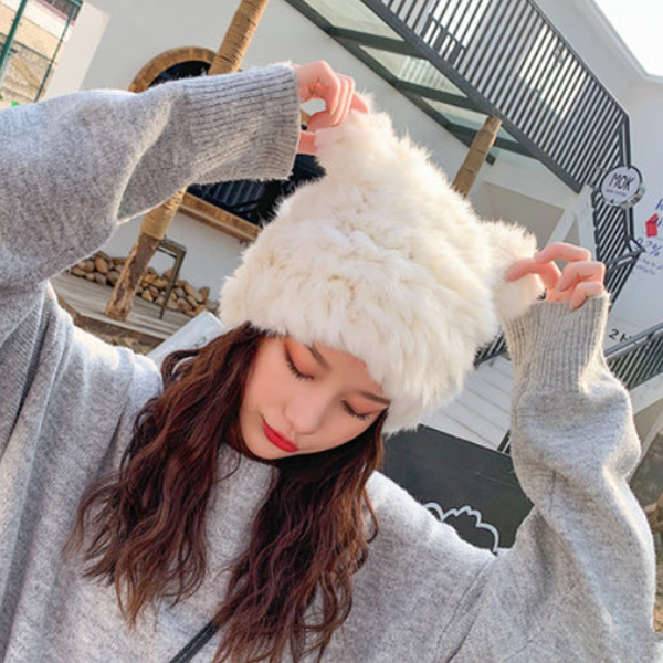 Cute rabbit ears plush hat yv42704