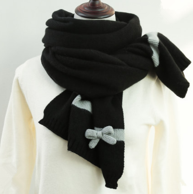 Cute knitted bow scarf yv42710