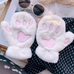 Cute cat paw plush gloves yv42735