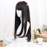 Cute kawaii natural realistic long straight wig YV42744