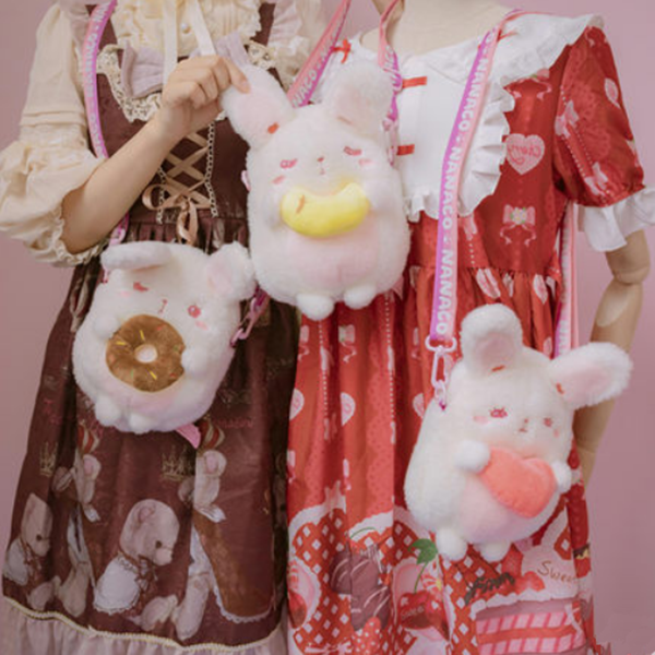 Cute lolita rabbit plush bag yv42753