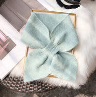 Cute bow knitted scarf yv42758