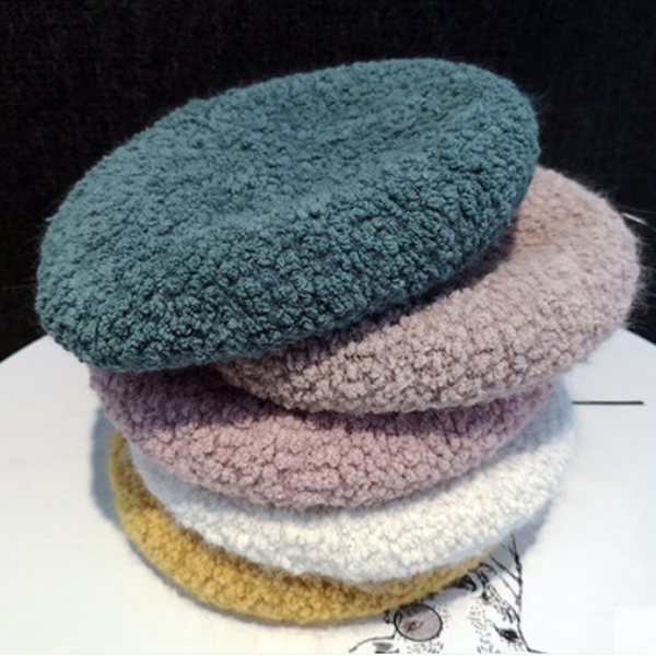 Cute plush beret yv42766