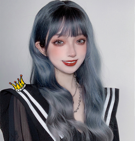 Lolita gradient gray long wig yv42791
