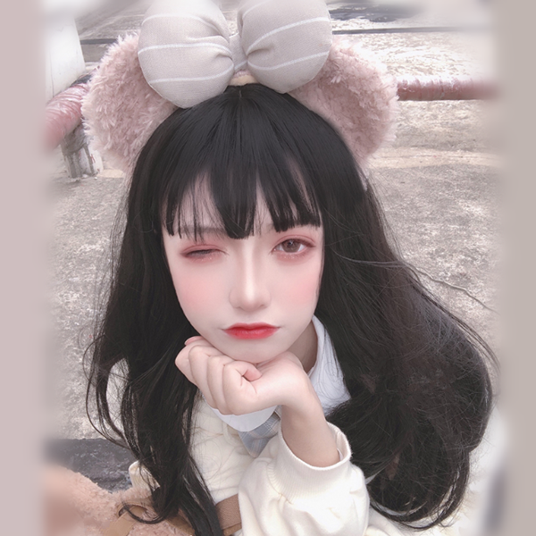 Cute long straight wig yv42802
