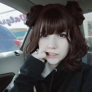 Harajuku lolita wig with two small bun YV40112