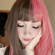 Cute pink brown wig yv42853