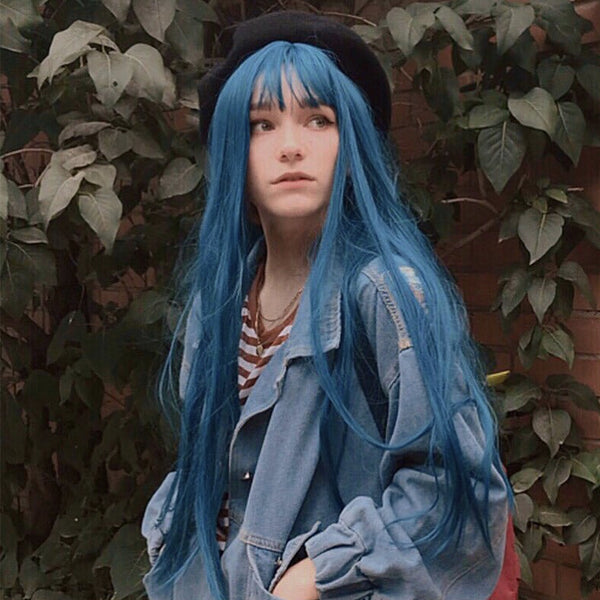 Review For Cute Blue Green Wig YV40790