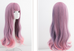 pink and purple mixed color long curly wig YV43652