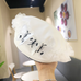 Bow embroidery beret YV43648