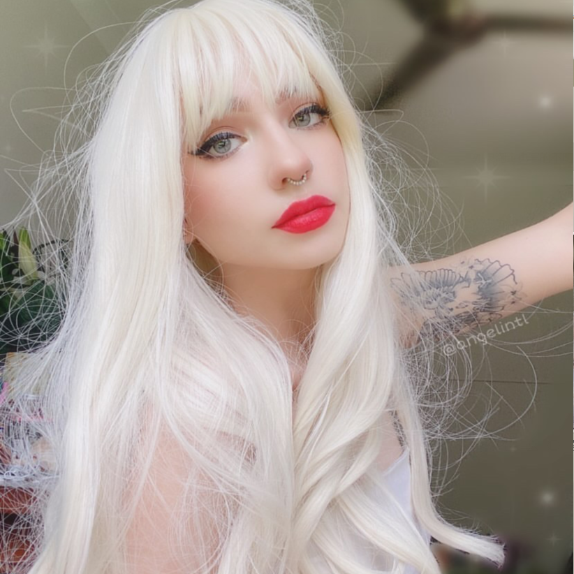 Review for White gold mid-length wig YV43428