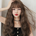 Vintage wool roll mid-length wig YV43851