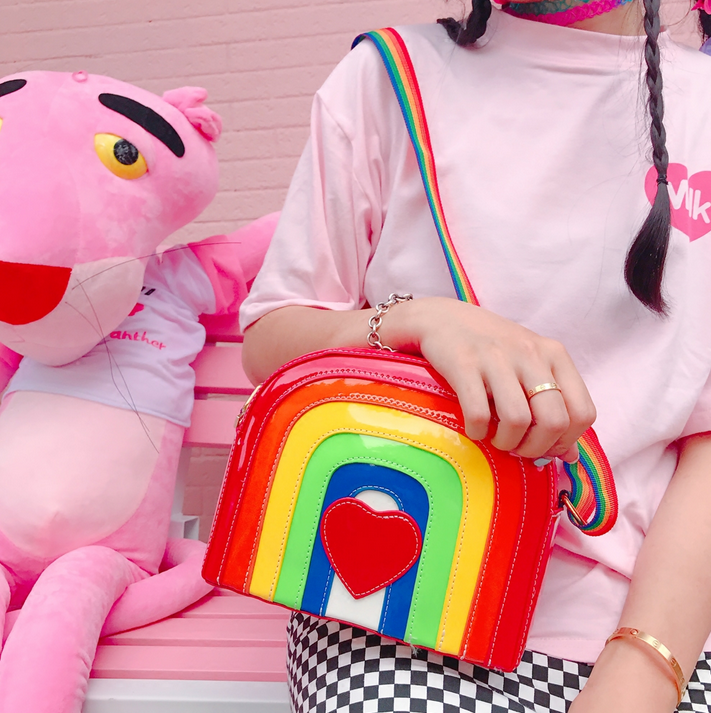 kawaii rainbow love shoulder bag yv2232