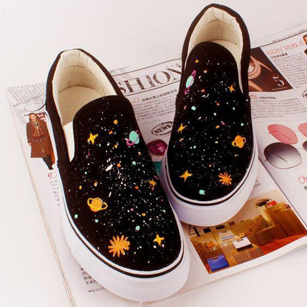 Harajuku galaxy hand-painted canvas shoes YV2297