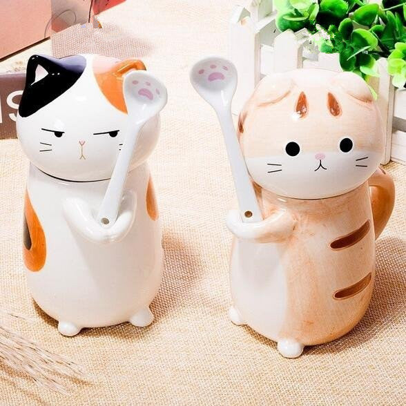 kawaii cat ceramic tea/coffee mug/cup  yv194