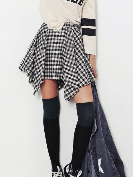 Irregular Checker Skirt YV17061