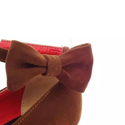 Retro Bow High Heel Shoes YV8070