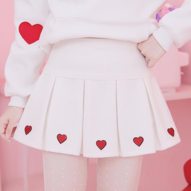 Review for Sweet love high waist woolen skirts YV2477