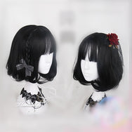Natural black air bangs wig YV40302