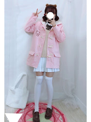 Japanese plus velvet bear coat yv40719