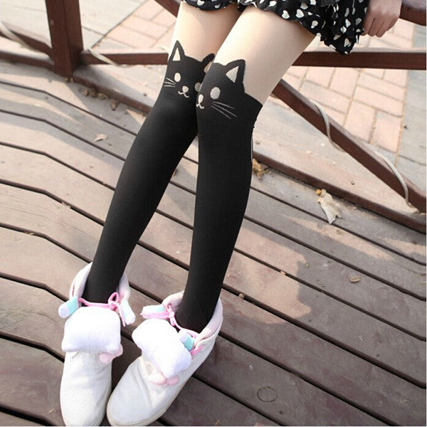 Cute Cat Over Knee Stockings YV40142