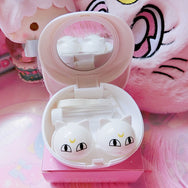 Japanese luna cat girl warrior contact lens storage box YV2337