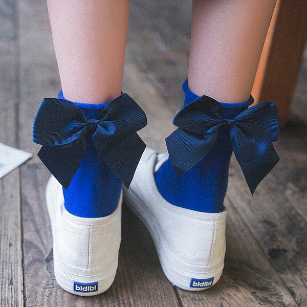 Japanese Cute Heel Bow Socks yv40536