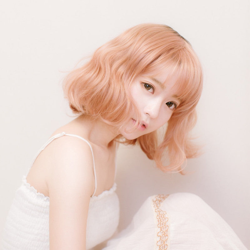 Harajuku fluffy gold powder short hair pear head cos wig  YV2006