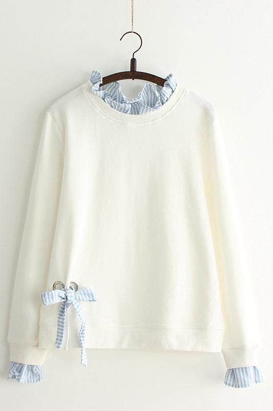 Loose bf hedge bow sweater YV2396