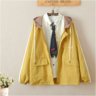 Cute giraffe hooded jacket yv40547