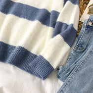 Blue striped turtleneck sweater YV40874