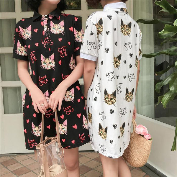Kawaii cat printing dress YV17043