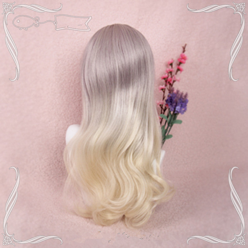 Gradient long roll wave wig YV40339