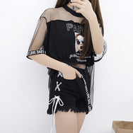 PARIS top + shorts two-piece set YV40358