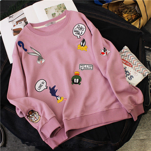 Cute cartoon embroidered sweater YV40706
