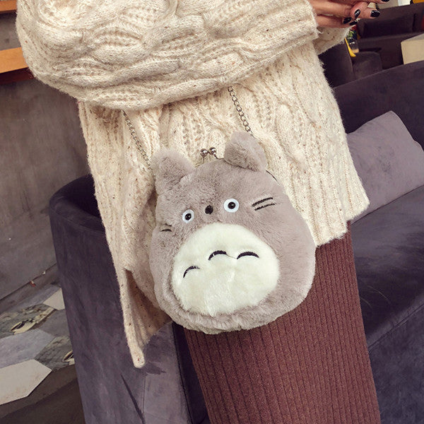 Japanese cute Totoro plush bag YV40702