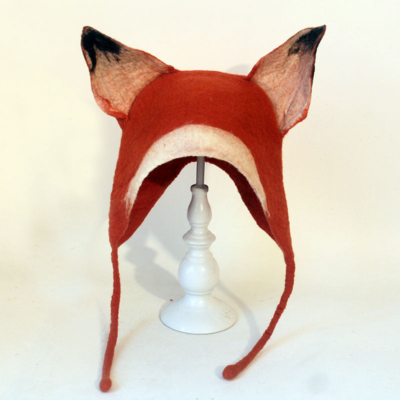 Handmade wet felt fox hat yv20122