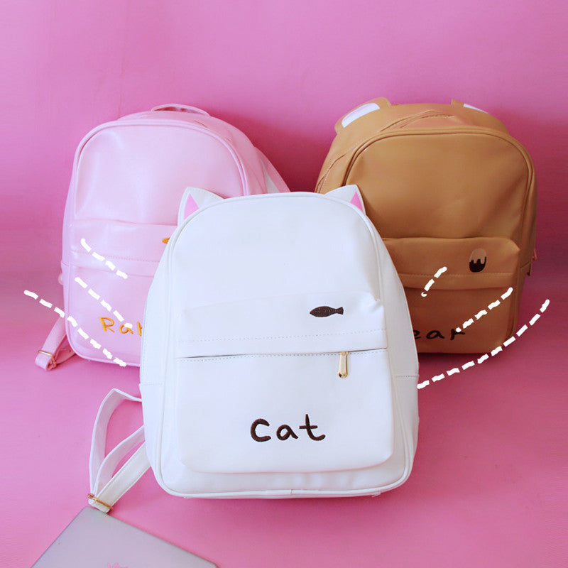 Kfashion cute cartoon handbags pu mini bag shoulder bag YV260