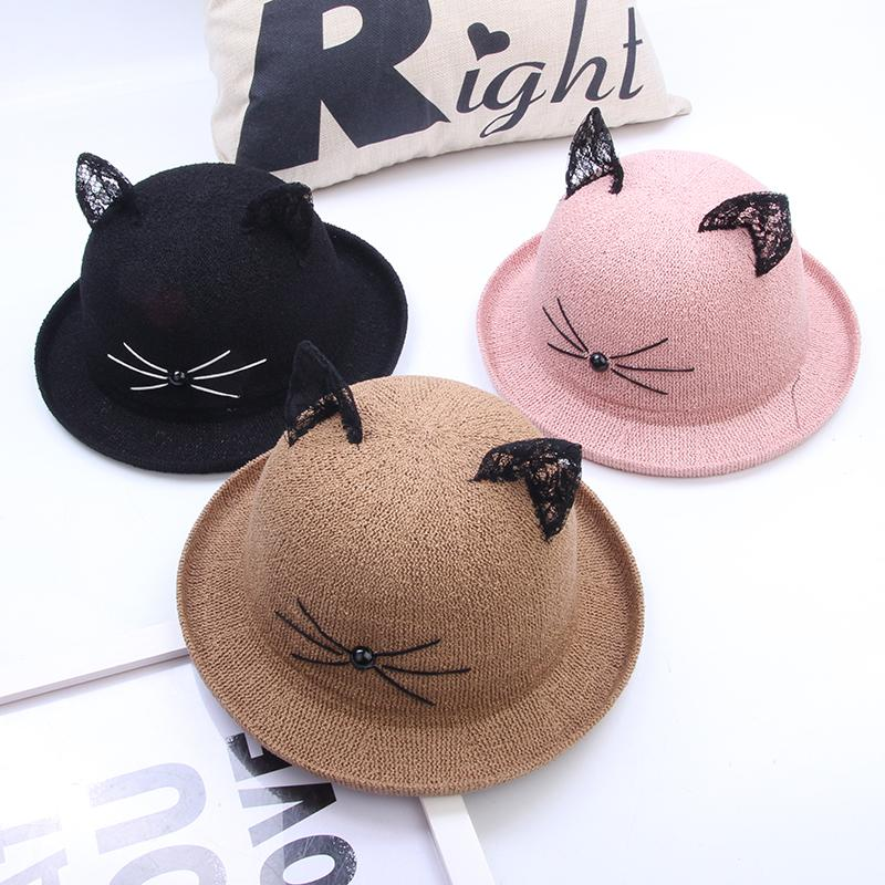 CuteKawaii cat ear lace fisherman hat  YV5034
