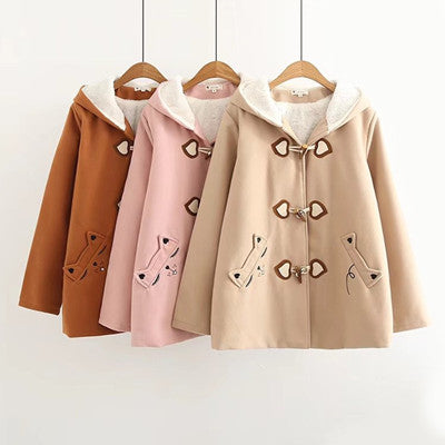 Japanese cat love embroidered coat YV401