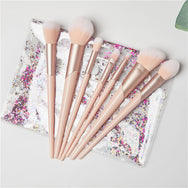 Pink seven-piece makeup brush set YV40350