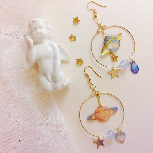 Cute Sweet Planet Pendant Earrings YV40276