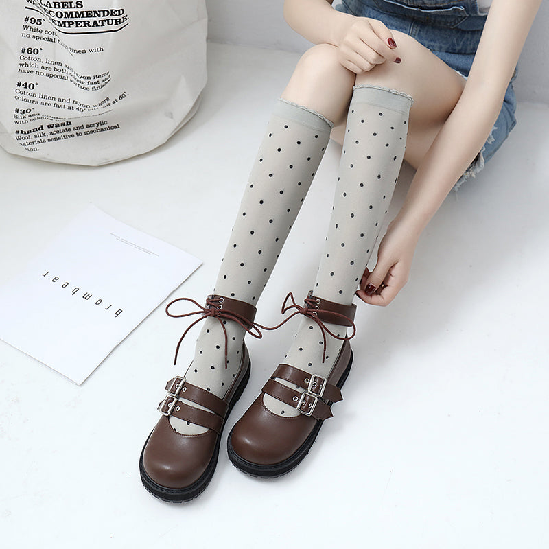 Japanese Lolita Leather Shoes YV40186