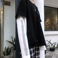 Harajuku fake two long-sleeved T-shirt yv40642