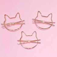 2PCS Kawaii cat kitty hair clip with pearl  YV8065