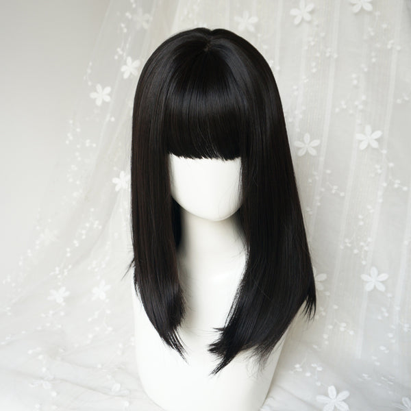 Black straight wig YV41094