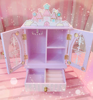 Girl wind castle jewelry box YV567