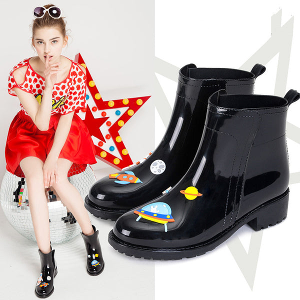 Harajuku cute cat planet rain boots YV1139