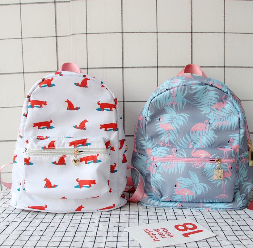 Cute Flamingo Printed Backpack YV40100