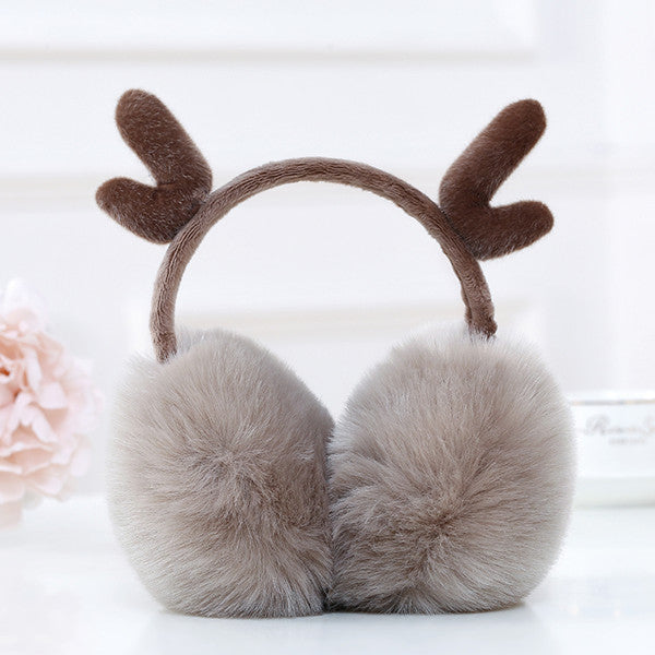 Cute antler plush Christmas earmuffs YV40772